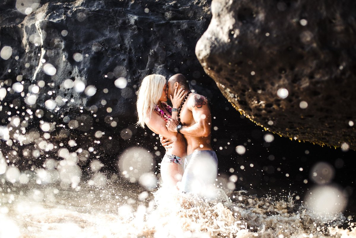 Eternity Beach Honolulu Hawaii Destination Engagement Session - 83