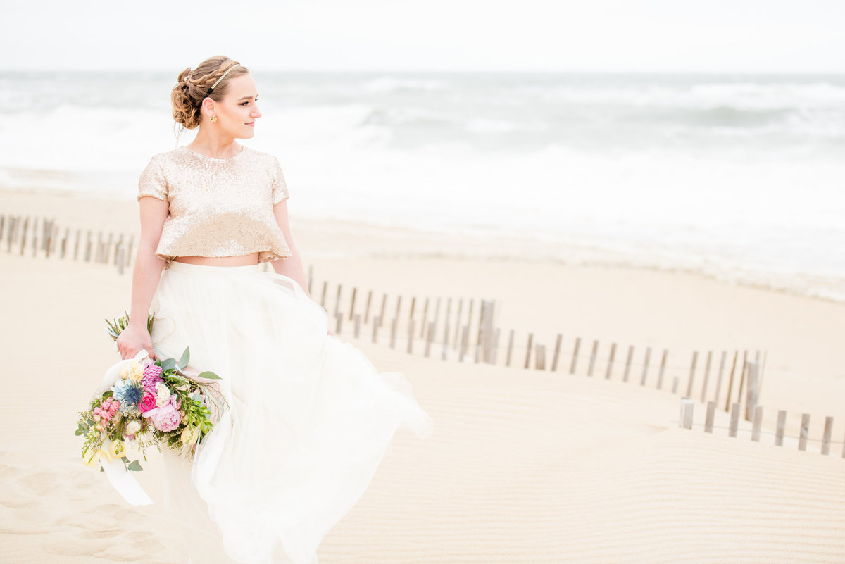 outer banks beach bride
