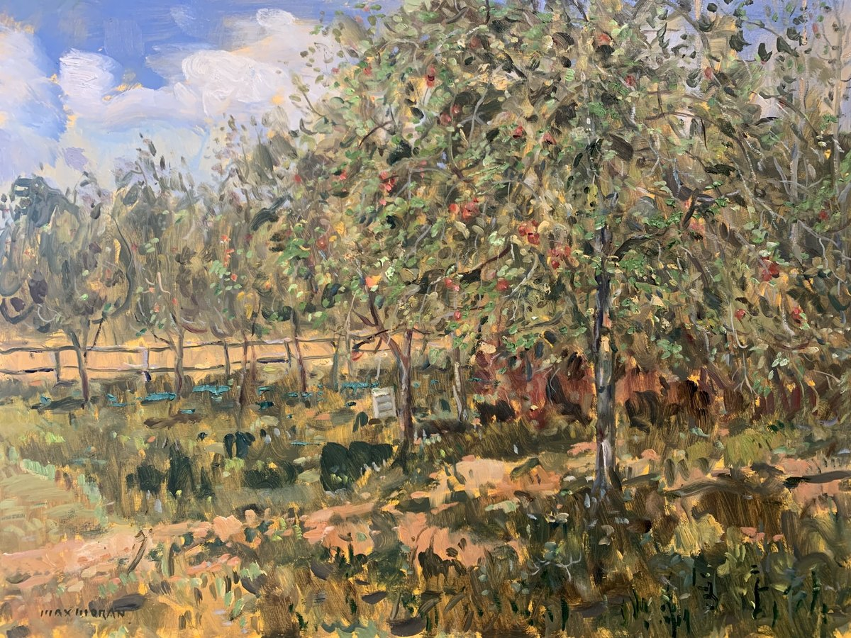 Apple Orchardon Kings Road in Orient, NY 18 x 24 oop 4,000