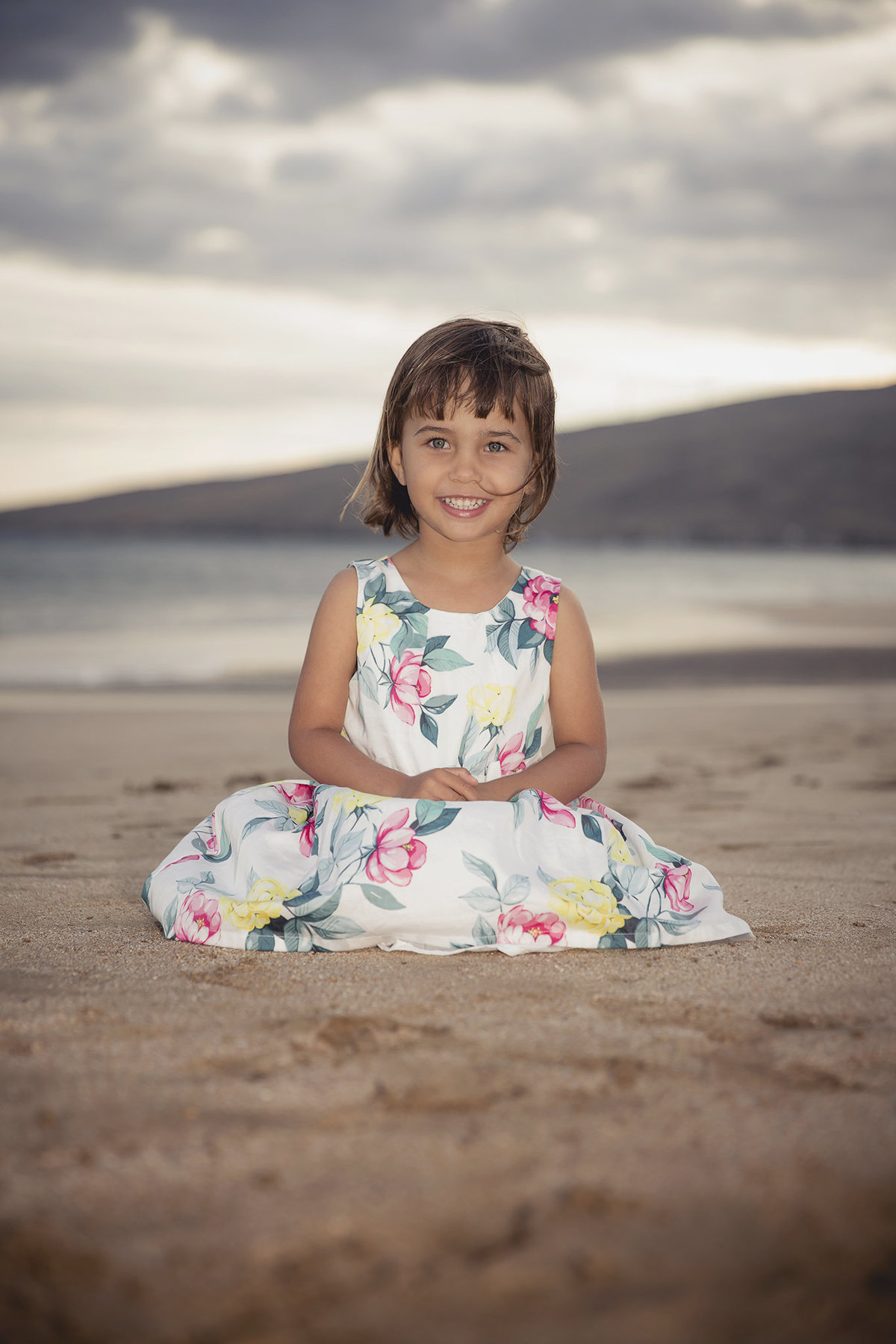 adorable little girl on the beach by jacob grant maui hawaii photography