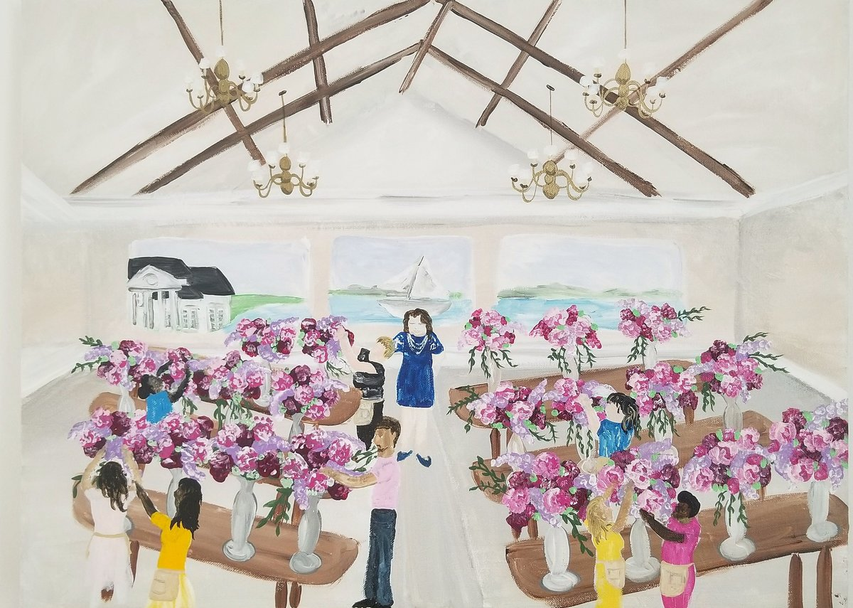 By Brittany Branson Live Wedding Painting Inn at Perry Cabin Maryland Eastern Shore