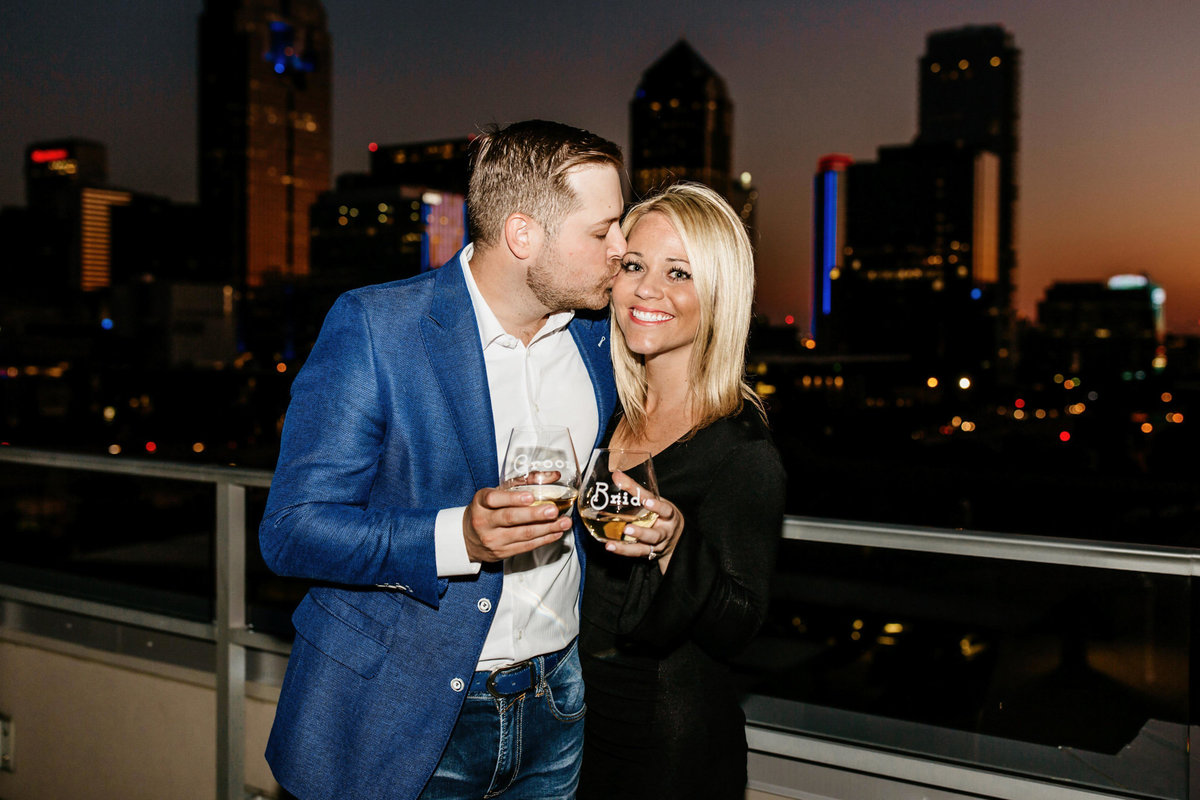 Eric & Megan - Downtown Dallas Rooftop Proposal & Engagement Session-260