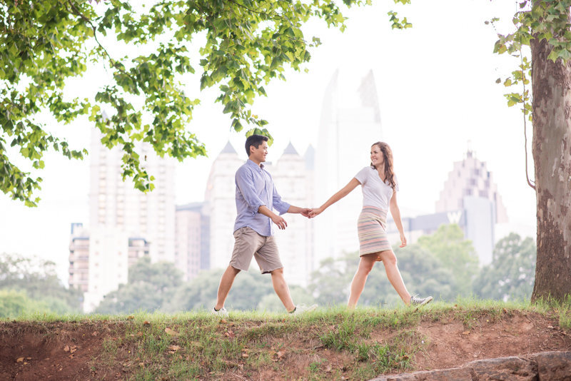 Atlanta Wedding Photographer Eliza Morrill engagement session at summerour studio, ponce city market, and piedmont park-32