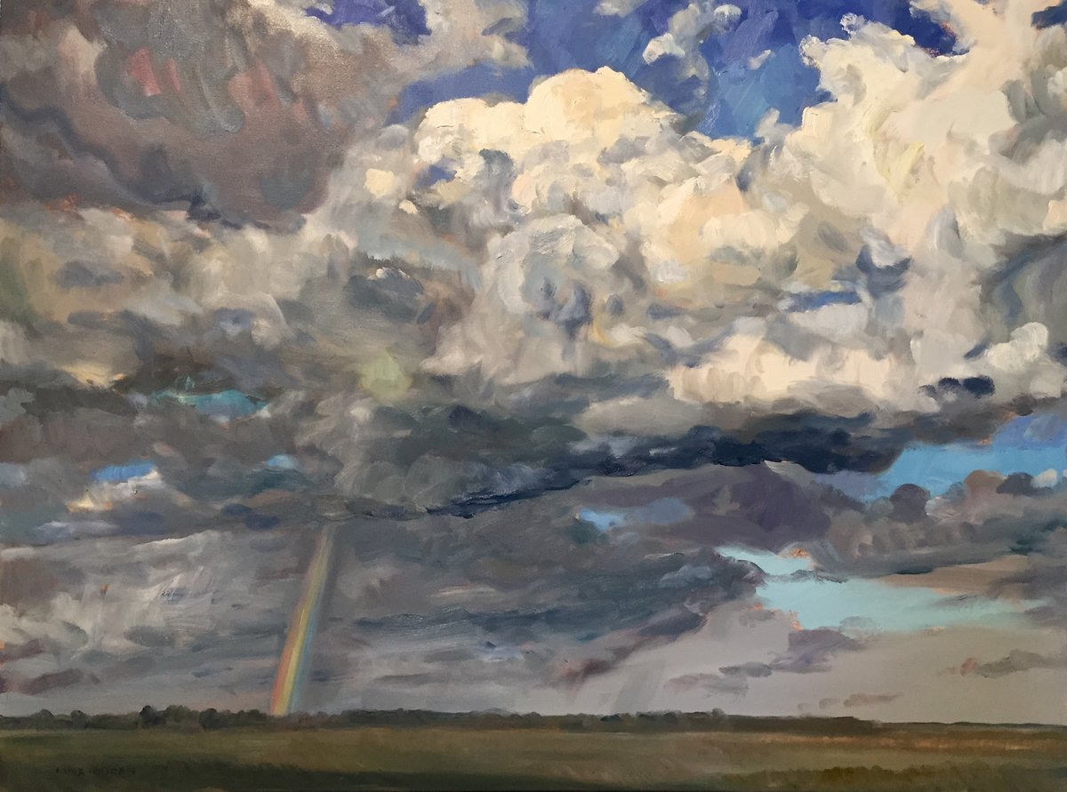 Rainbow over Northville  36 X 48 7000