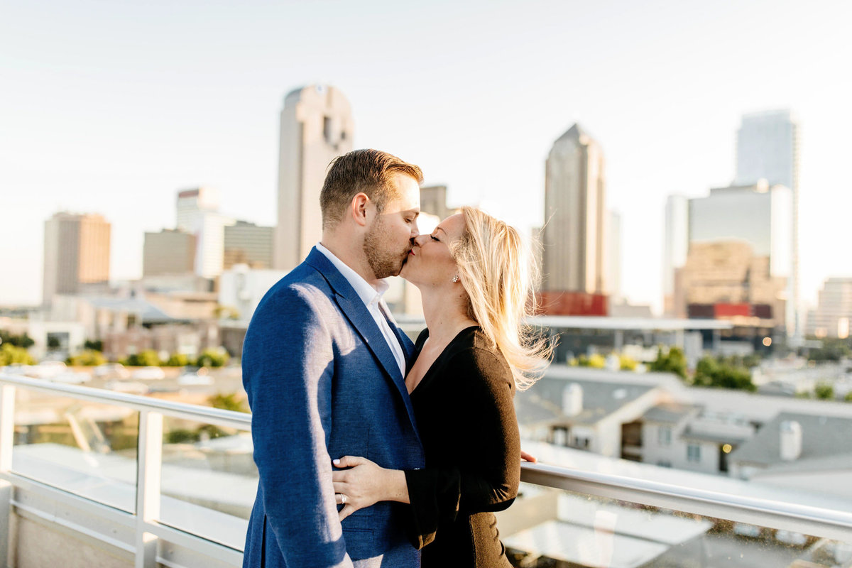 Eric & Megan - Downtown Dallas Rooftop Proposal & Engagement Session-83