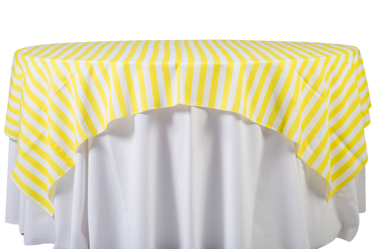 84'' Sq Yellow Cabana Stripes Overlay