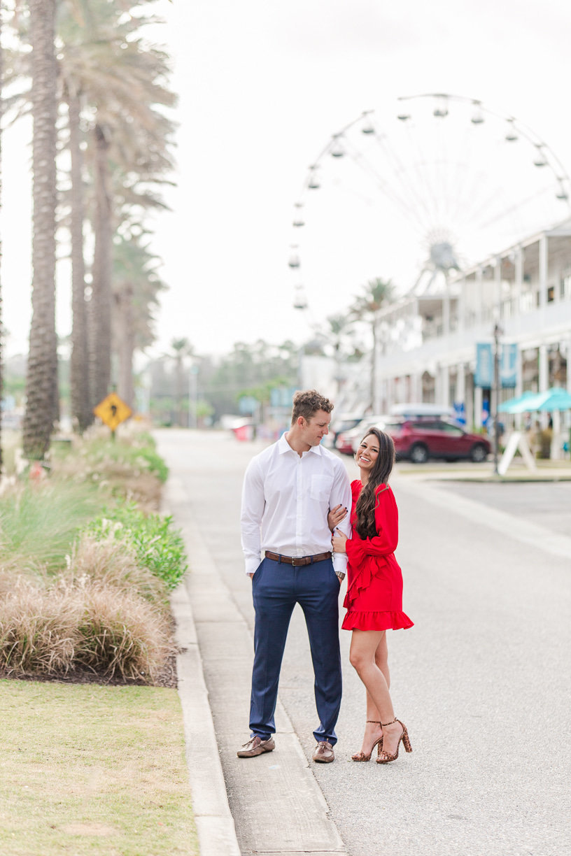 engagement session with a ferris wheel photographed by toni goodie photography