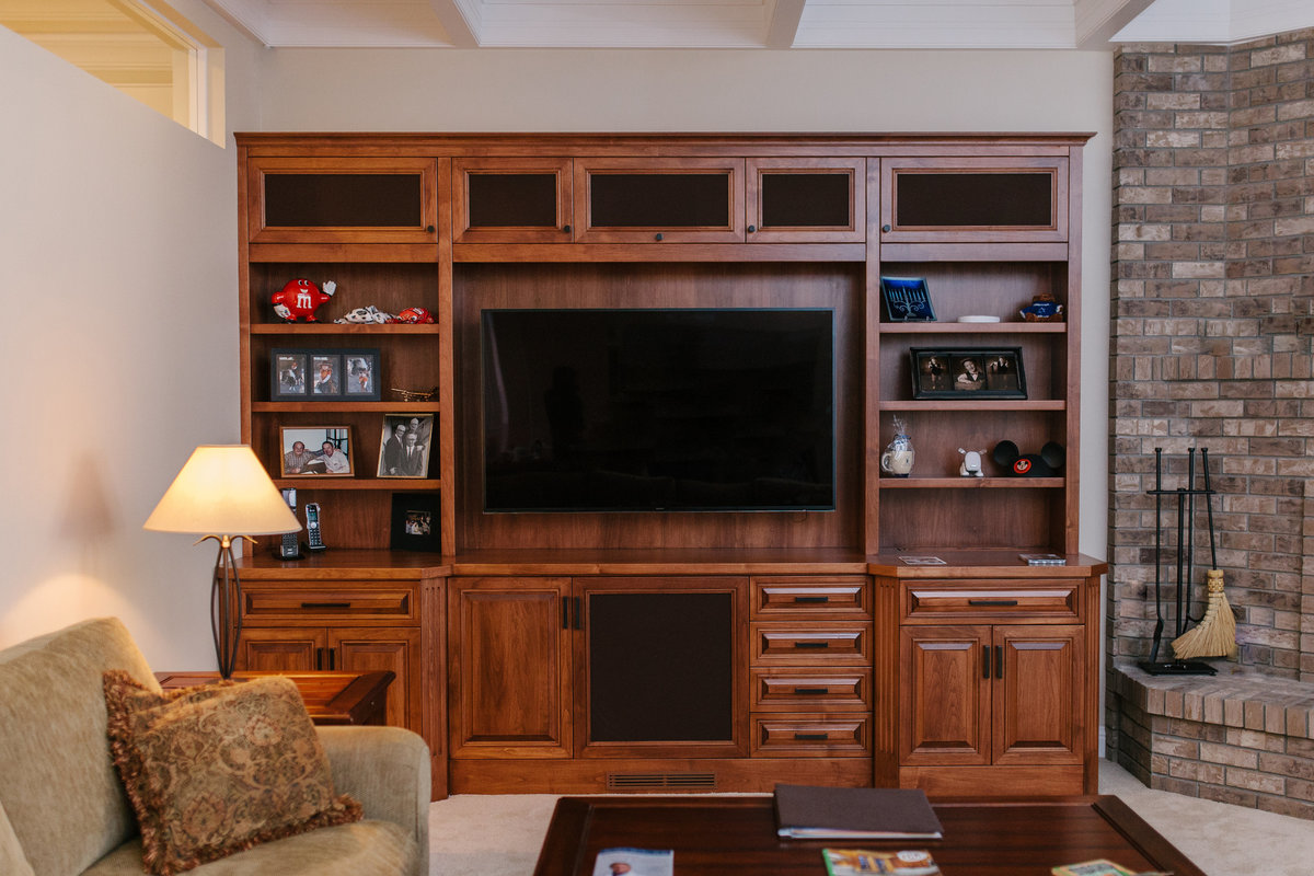 Custom TV Cabinet - Cowan's Cabinet Co.