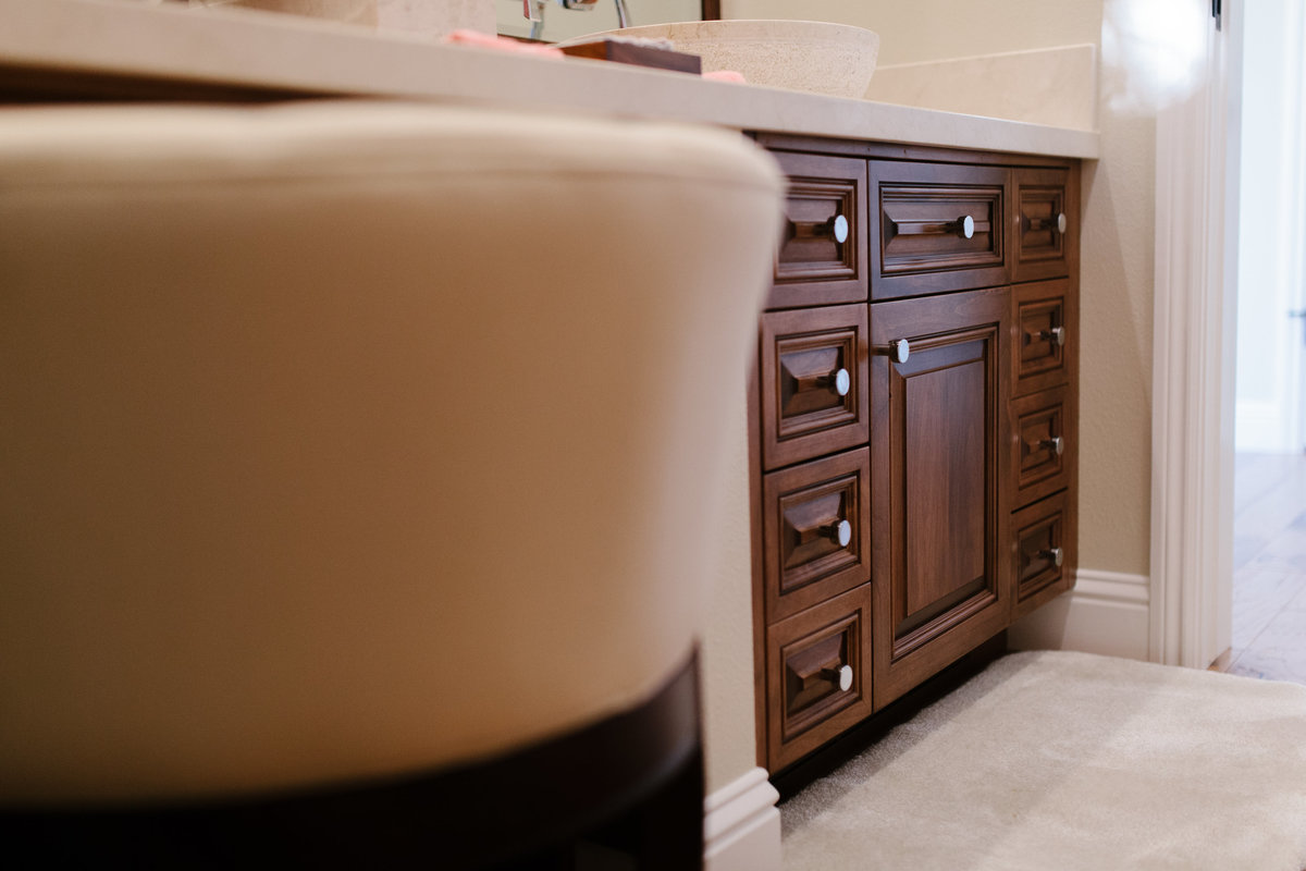 Custom Powder Room Cabinet - Cowan's Cabinet Co.