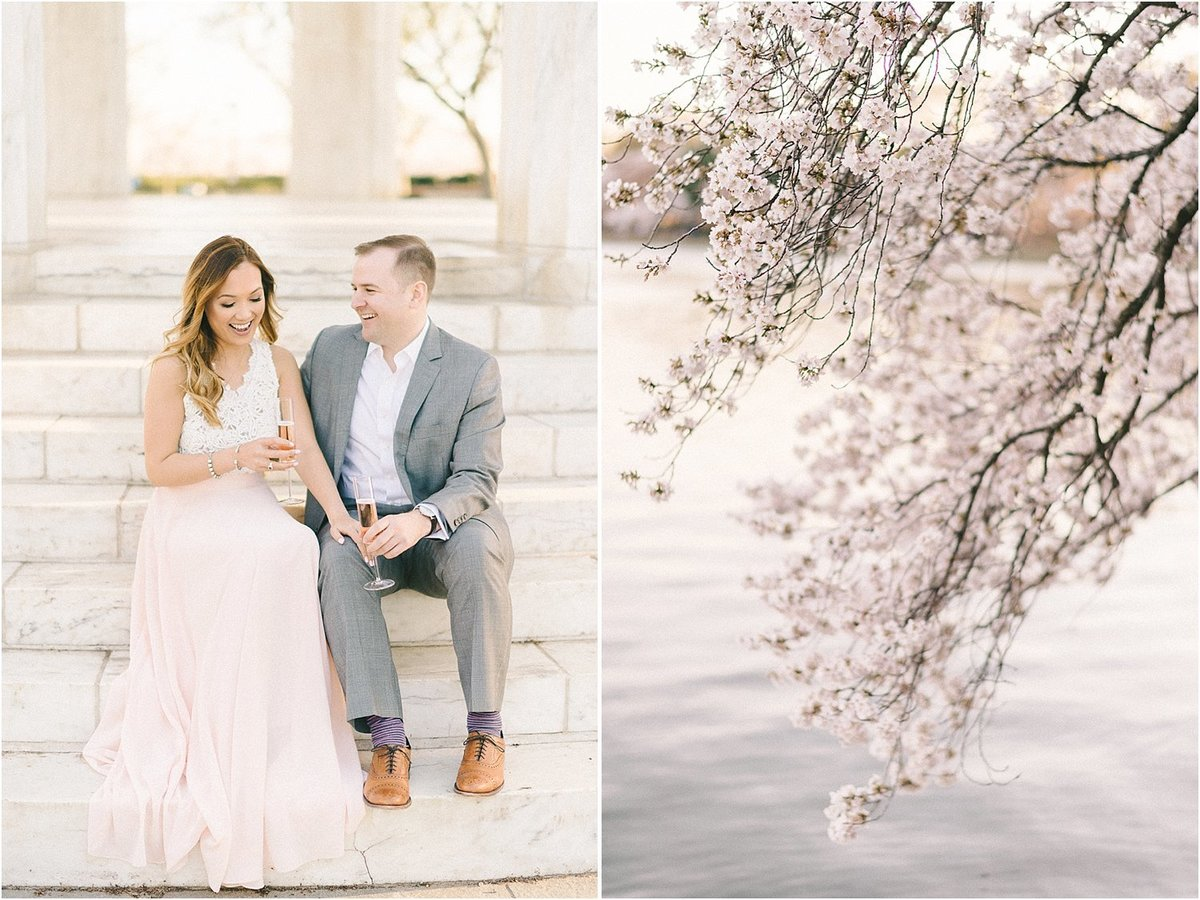Cherry Blossom Engagement Session-52
