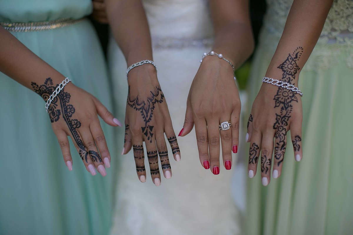 Wedding Ring and Henna Drawing_