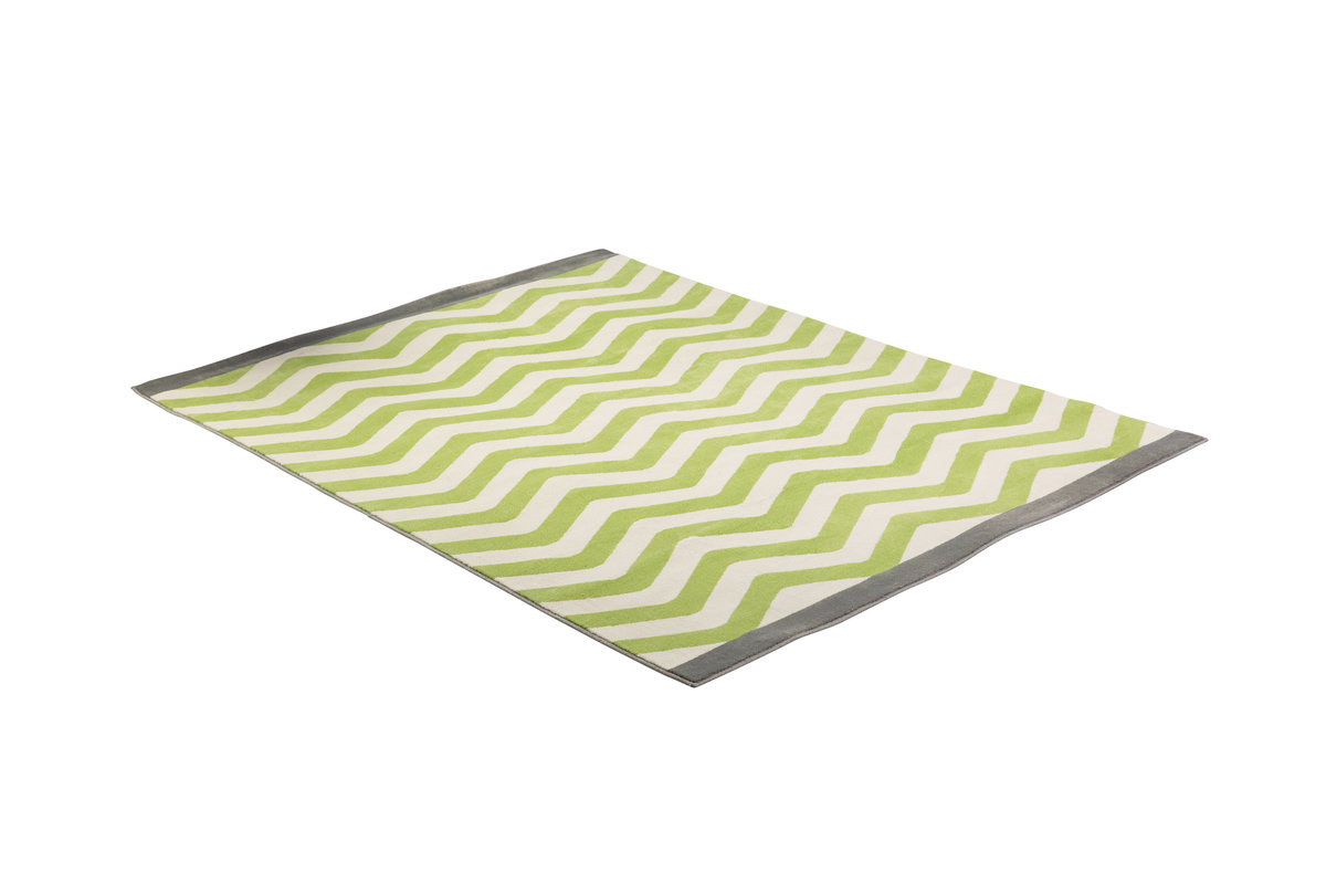 5' x 7' Lime Green Chevron Carpet
