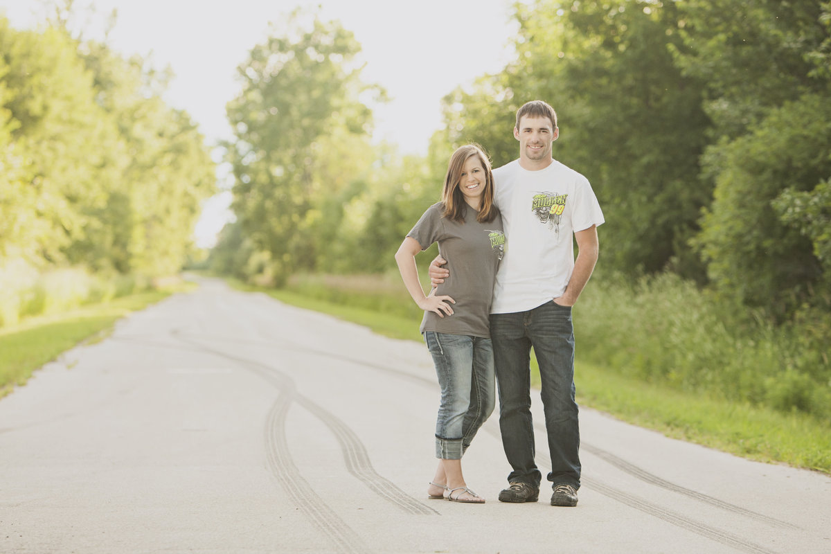 Engagement pictures for race car enthusiasts