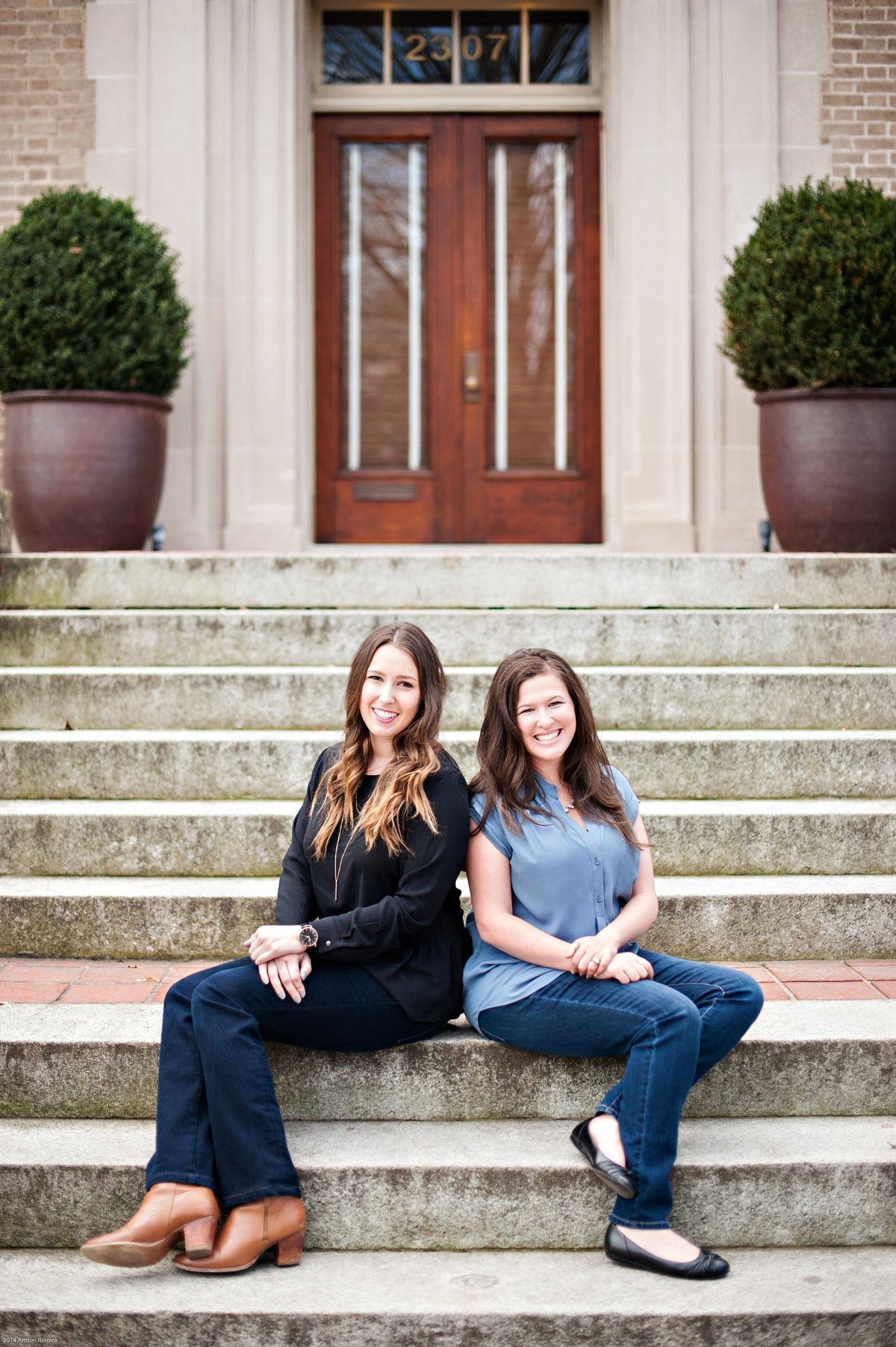 welcoming and friendly headshots for wedding planner team on location richmond va