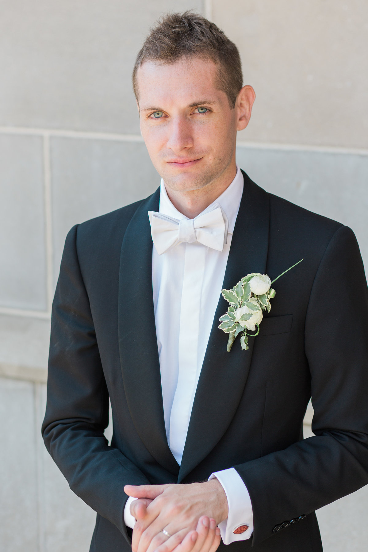 Basilica of the Sacred Heart Groom Portrait Photo