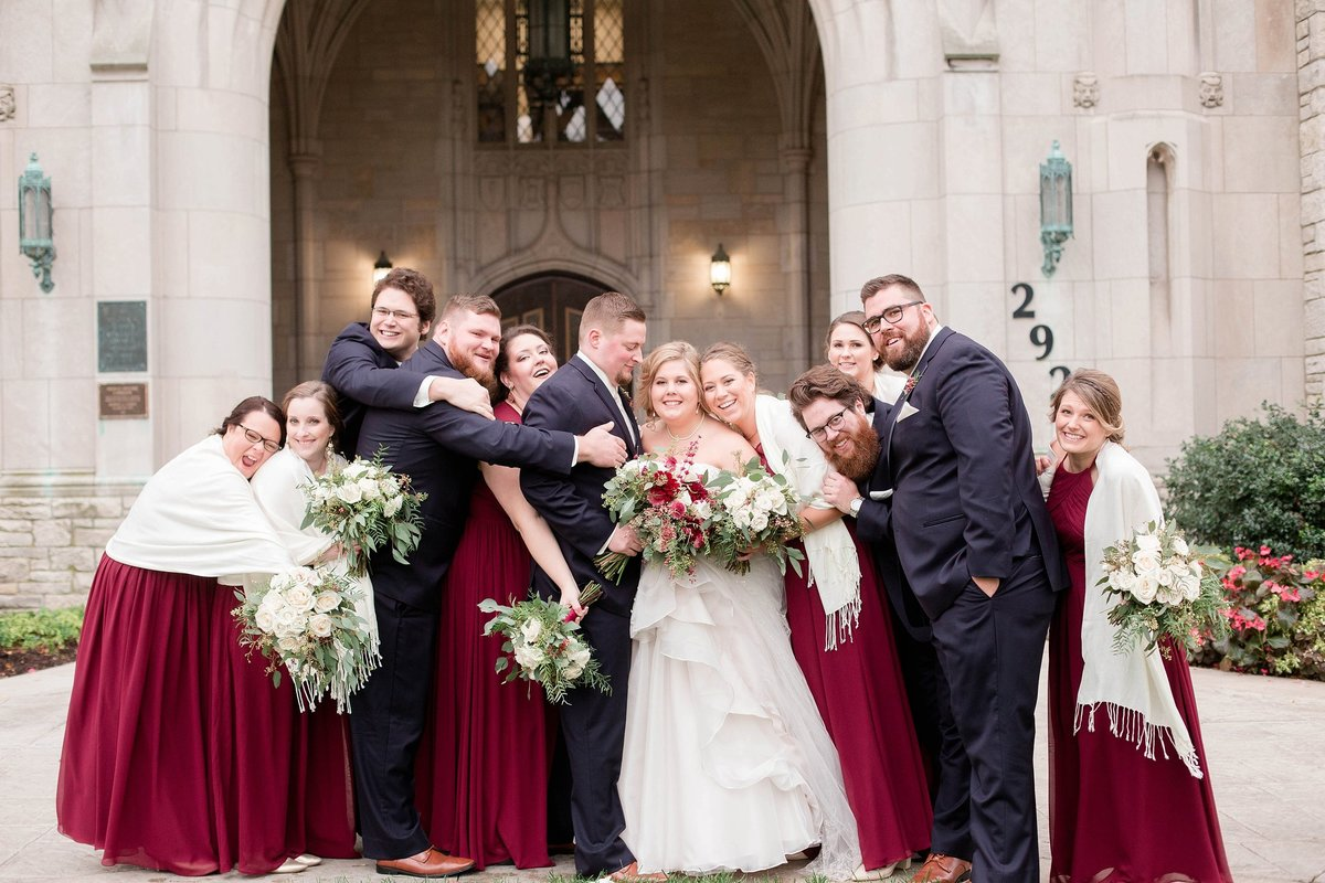 Burgundy and Rose Gold Fall Holland Garden Wedding with by Toledo and Detroit Based Wedding Photographers Kent & Stephanie Photography_1111