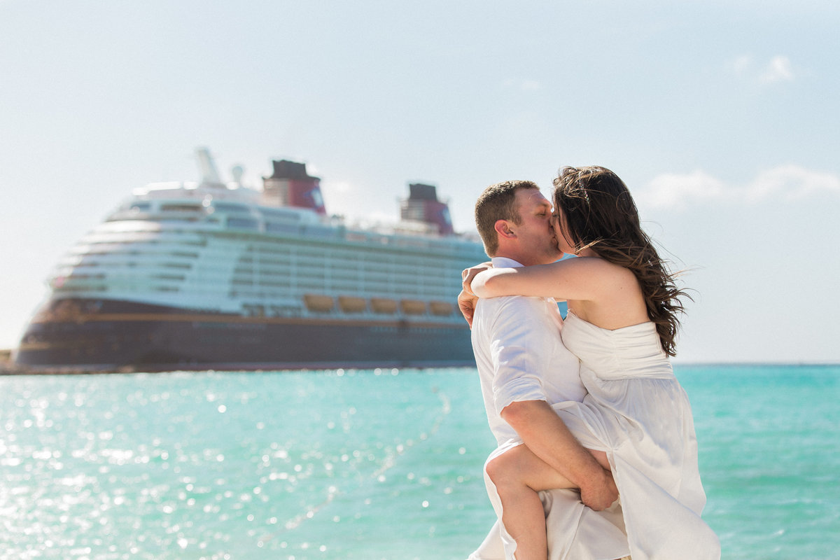 Destination Wedding Photographer Jess Collins Photography Disney Cruise Line Wedding on the Disney Dream at Castaway Cay in the Bahamas