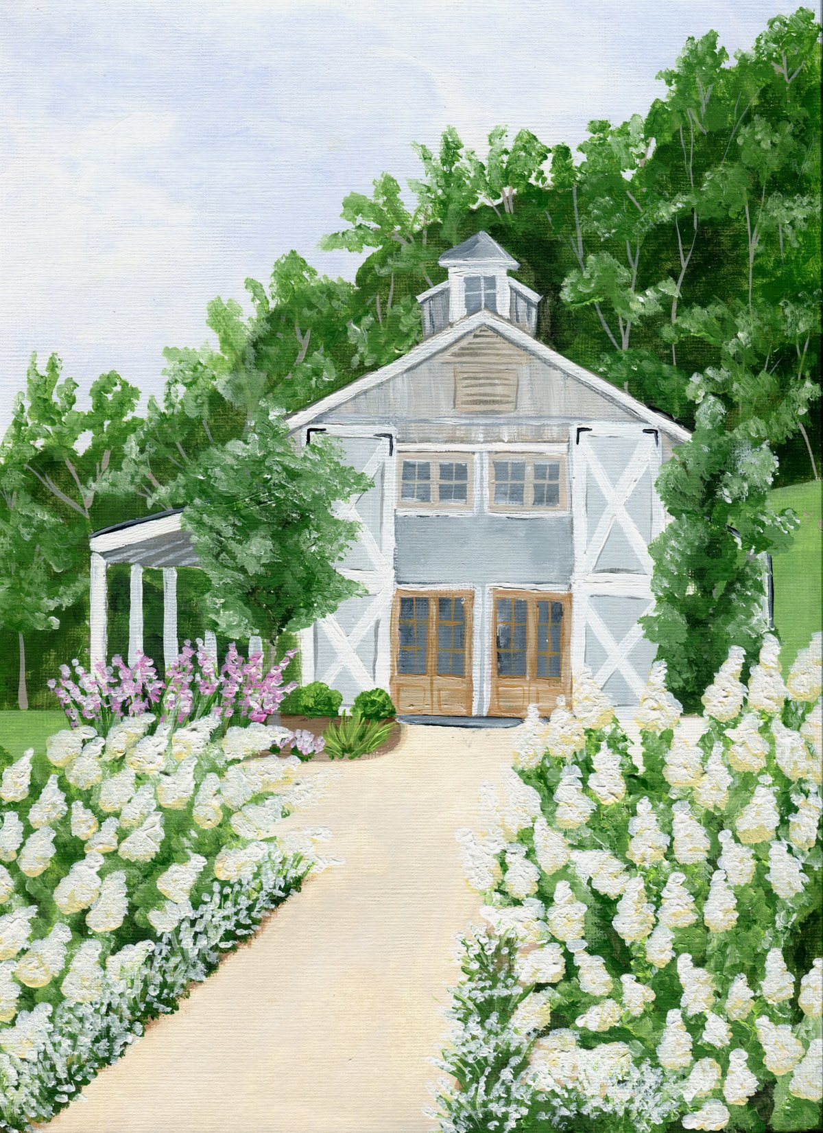 By Brittany Branson Pippin Hill Winery wedding venue painting