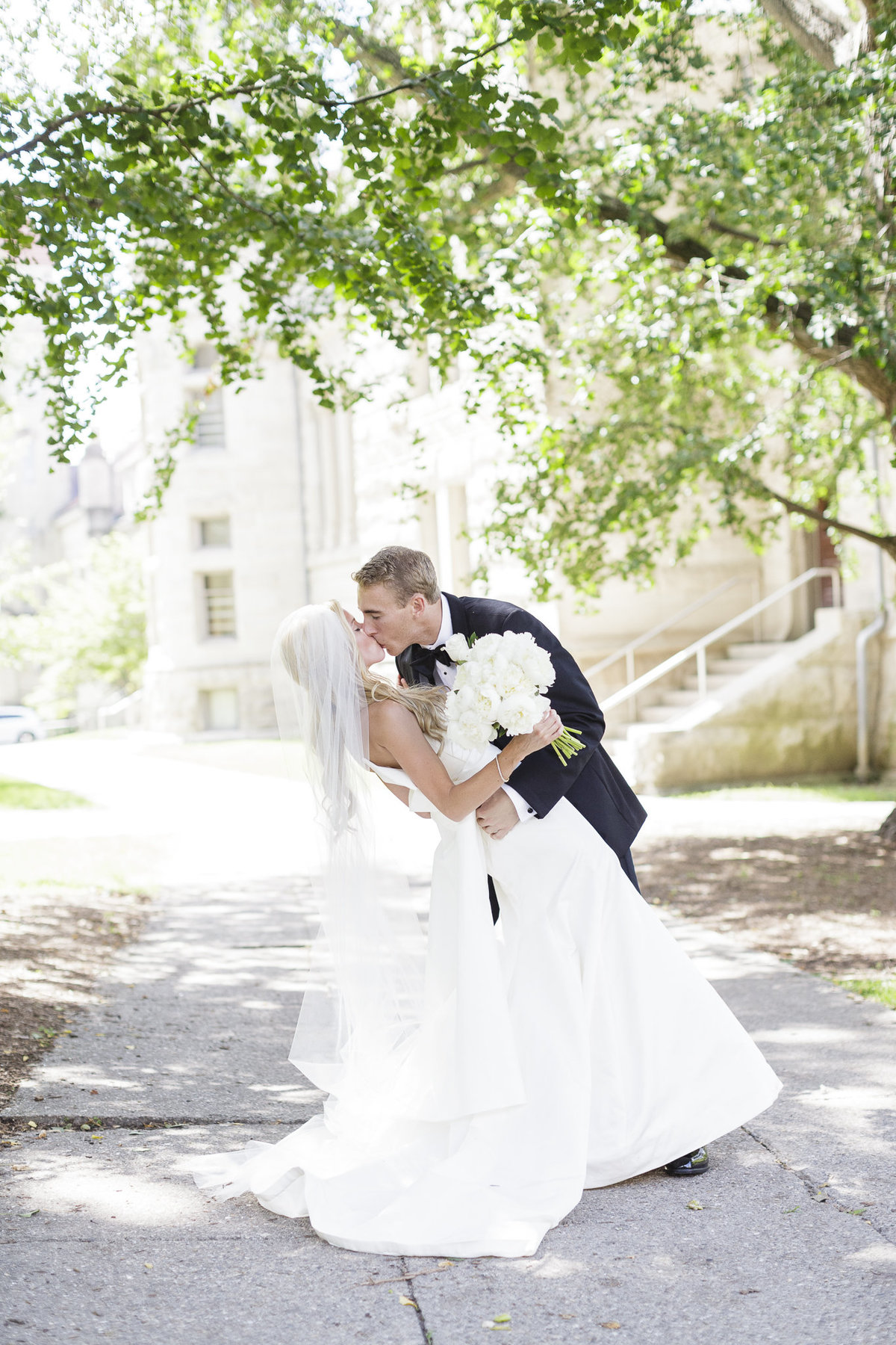A wedding on the campus of Indiana University