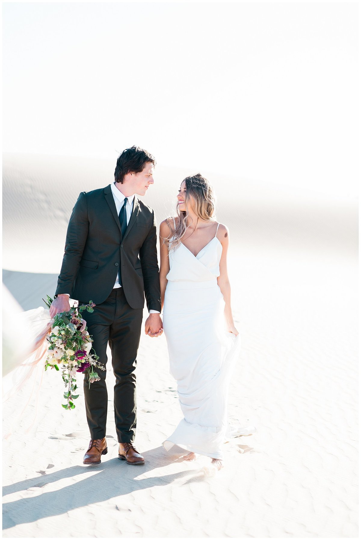 Glamis Desert Bohemian Wedding Styled elopement southern california sand dunes photo008