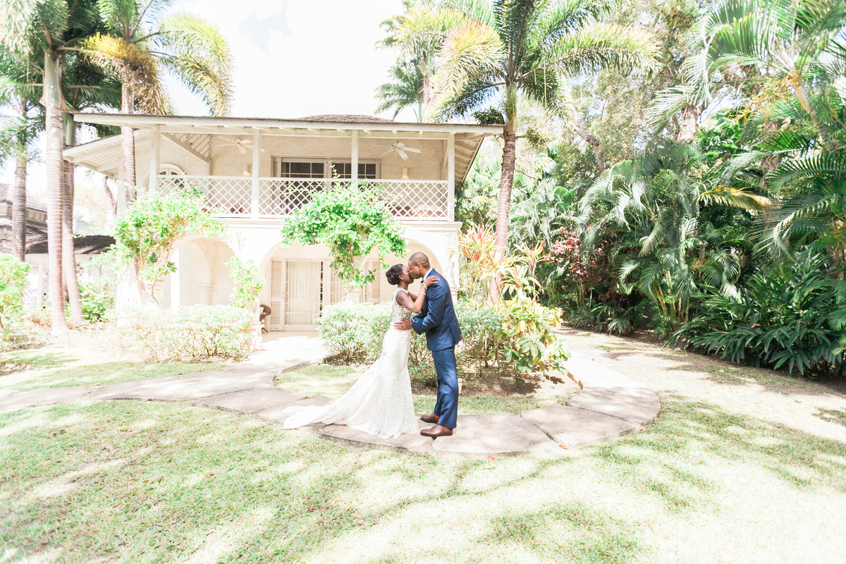 Bride and Groom at a villa - Bluff House, Sandy Lane Barbados