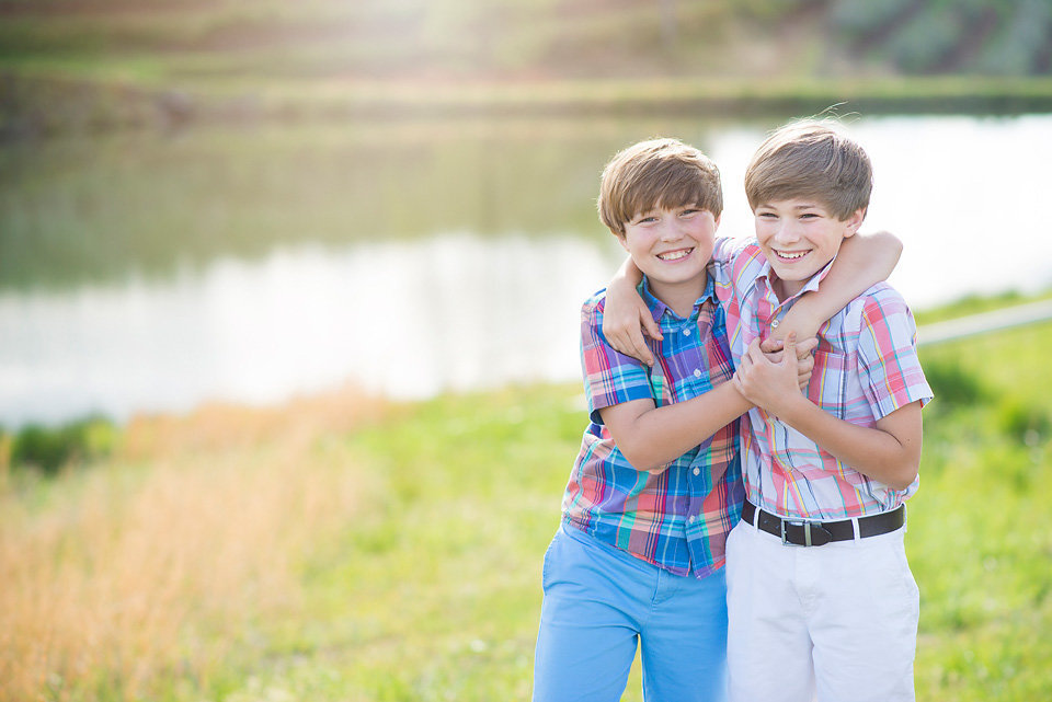brothers_by_pond_mercier_orchards_blue_ridge_ga