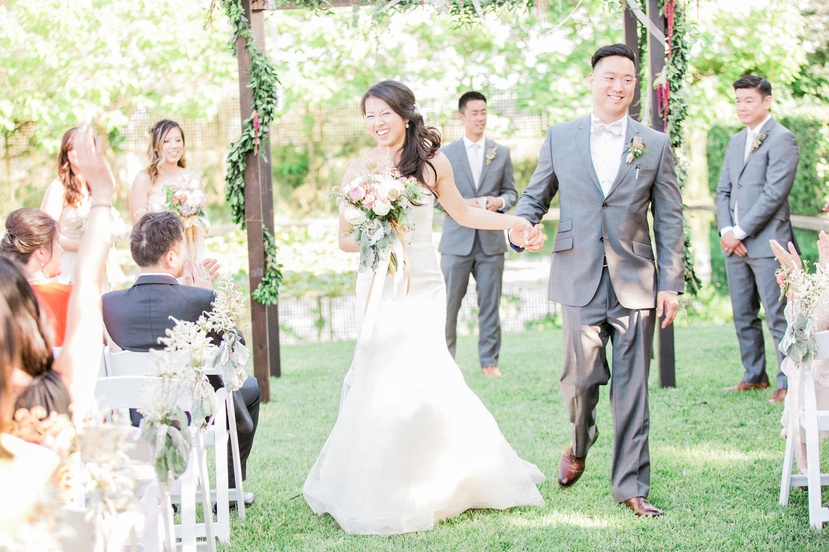Just Married Wine Country Wedding