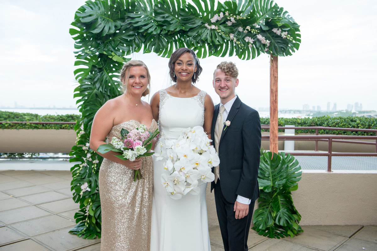 NFL Miami Dolphins Brandon Radcliff ShaKyra Radcliff Briza on the Bay Wedding Andrea Arostegui Photography-156