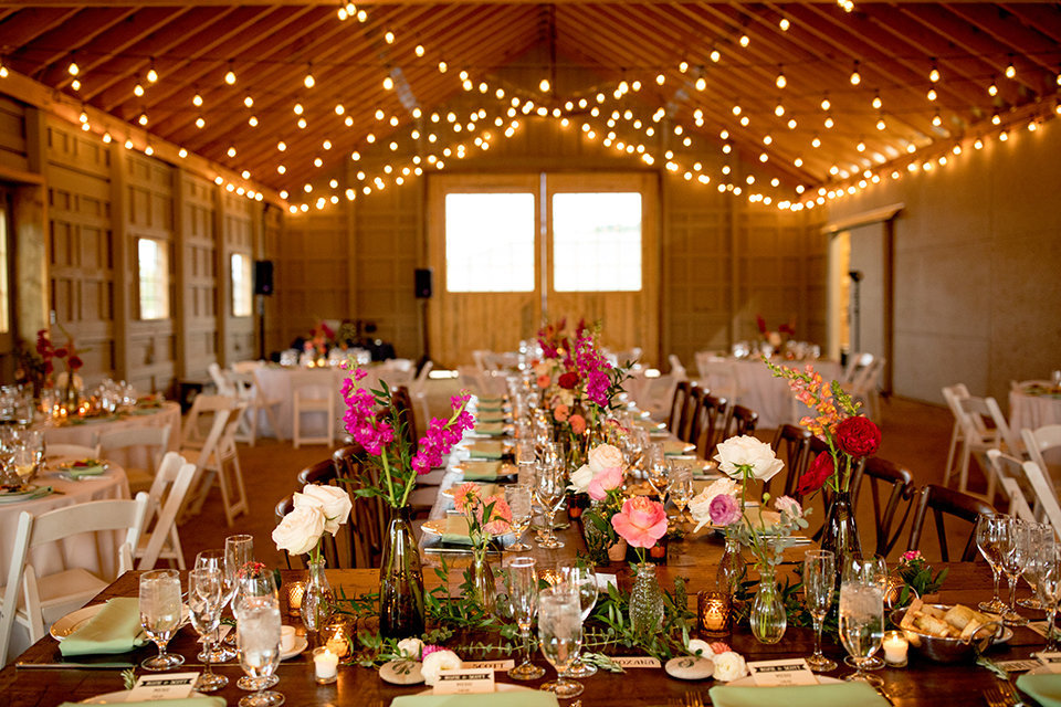 Granby-Colorado-Strawberry-Creek-Ranch-Wedding-Fire-on-the-Mountain-Wedding-Pops-of-Color-Fire-hot-colors-reception-room