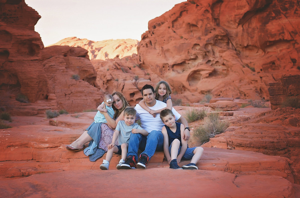 family desert photo
