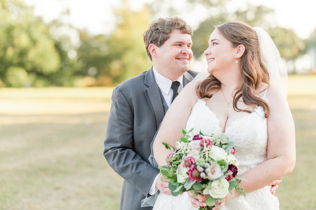 bright and airy bride and groom portrait by Toni Goodie Photography