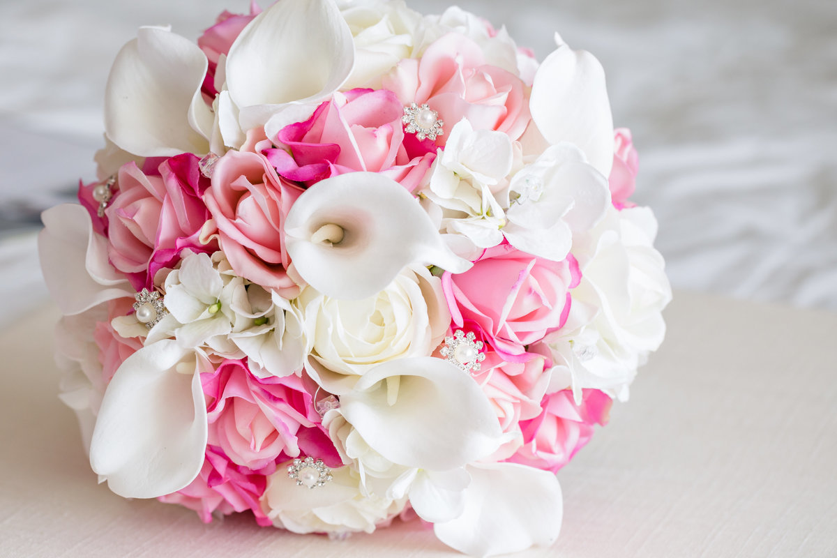 realistic artificial bridal bouquet