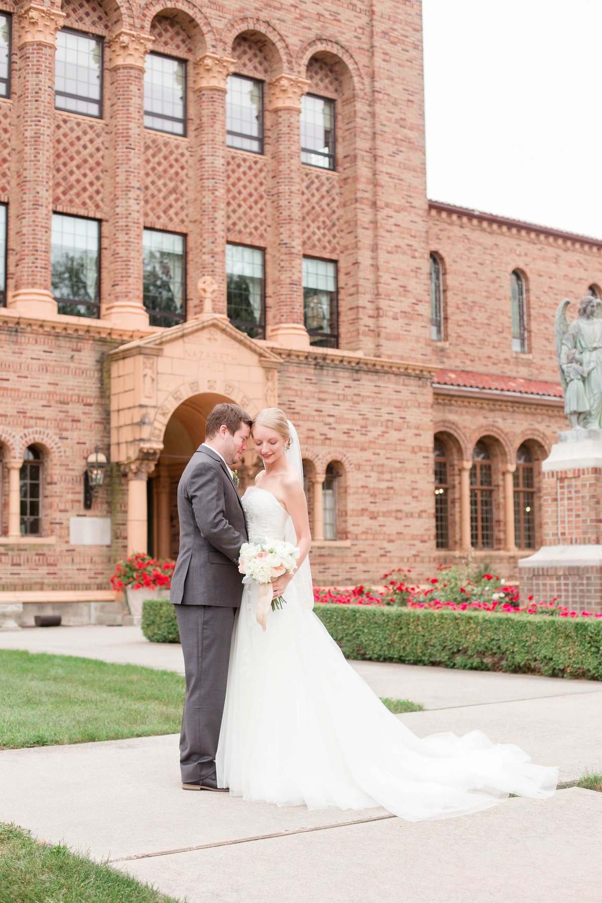 Mint and Blush Nazareth Hall Fall Wedding with First Look by Toledo and Detroit Based Wedding Photographers Kent & Stephanie Photography_0860
