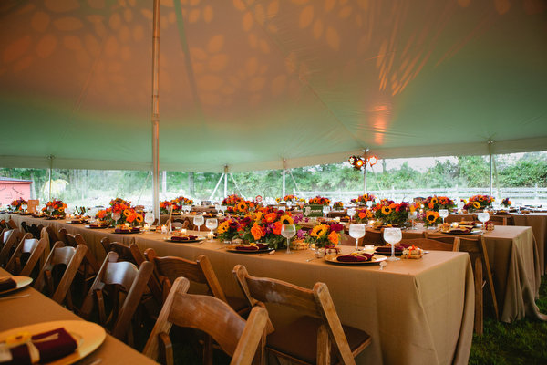 Farm home tent wedding fall rustic9
