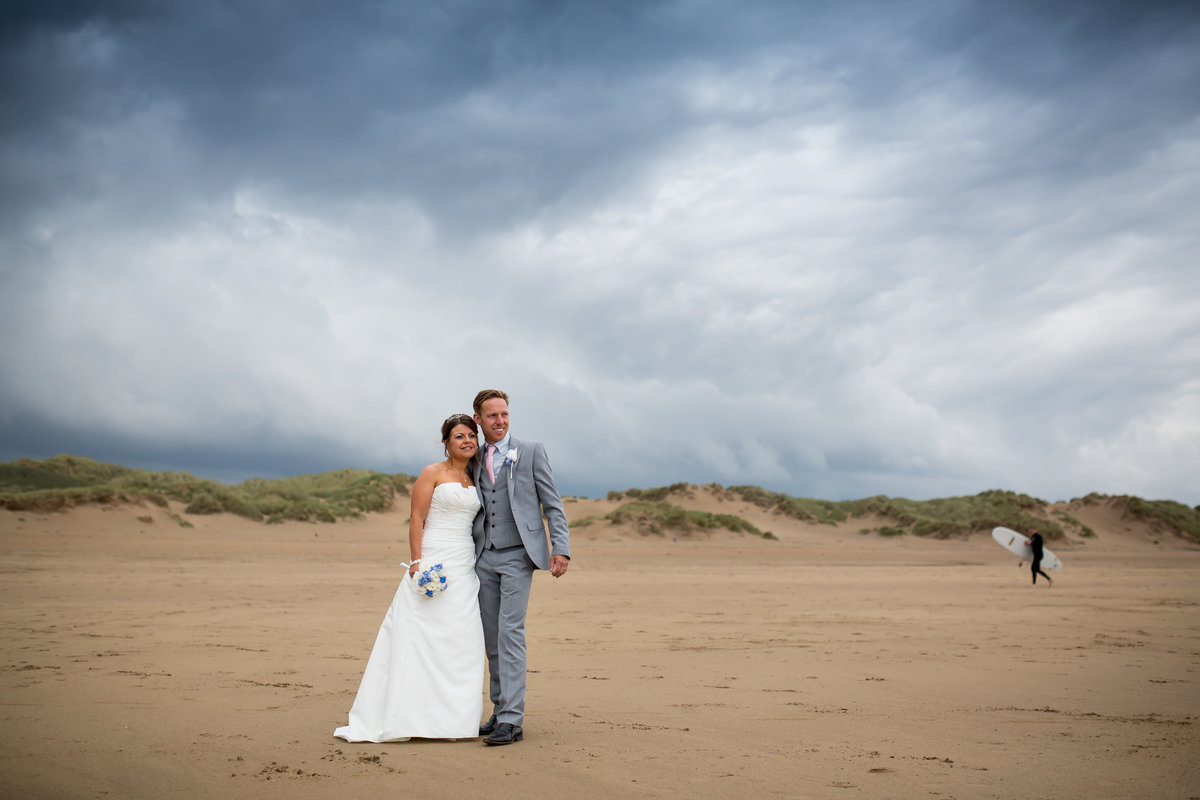 north devon beach wedding photographer