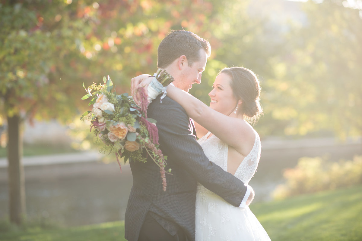 chicago fall outdoor wedding