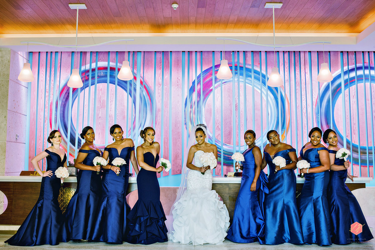 BRIDESMAIDS IN BLUE BY LYNDAHWELLSPHOTOGRAPHY