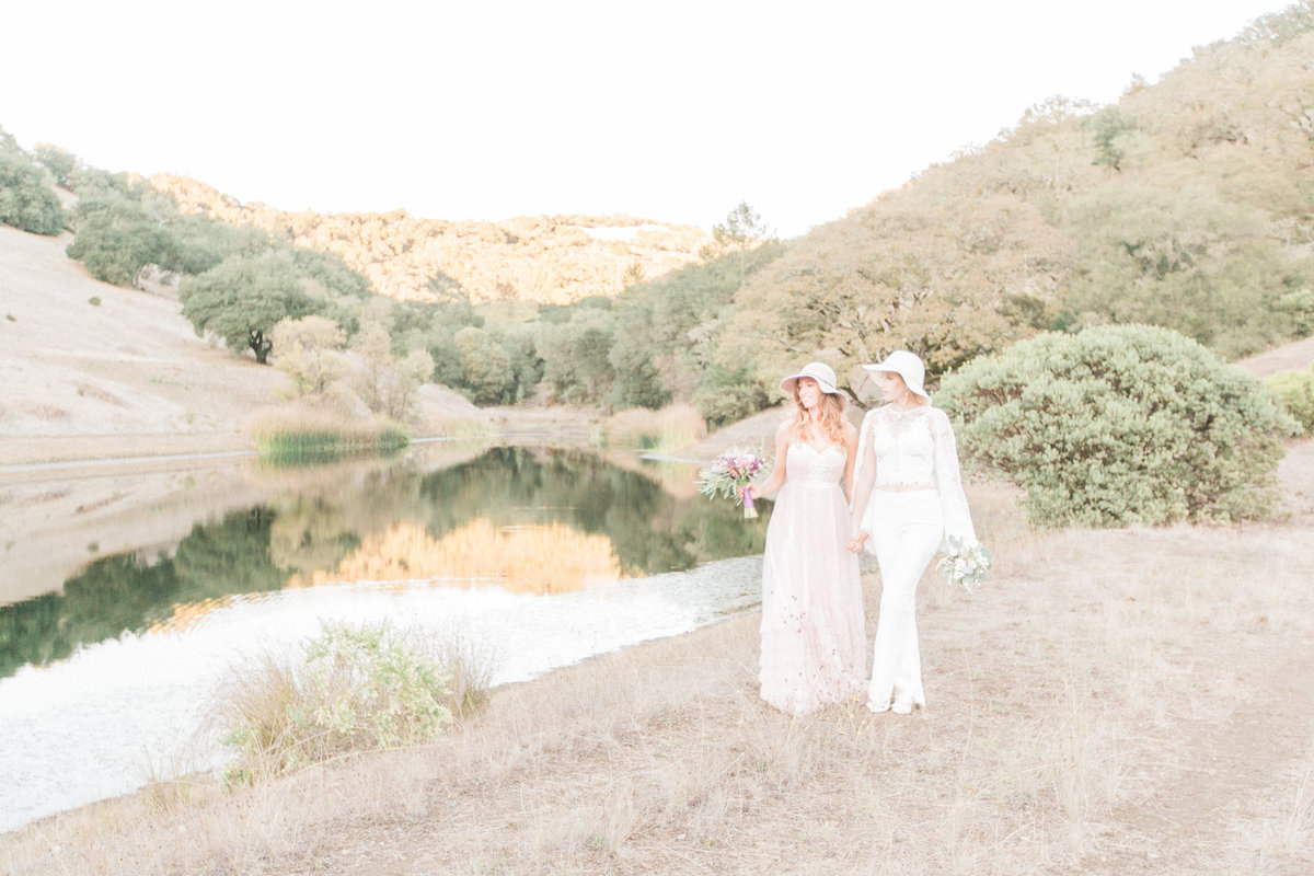 Lakefront Rustic Wedding French Oak Ranch California