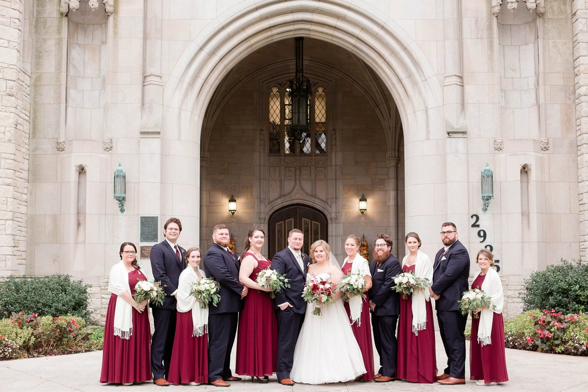Burgundy and Rose Gold Fall Holland Garden Wedding with by Toledo and Detroit Based Wedding Photographers Kent & Stephanie Photography_1108