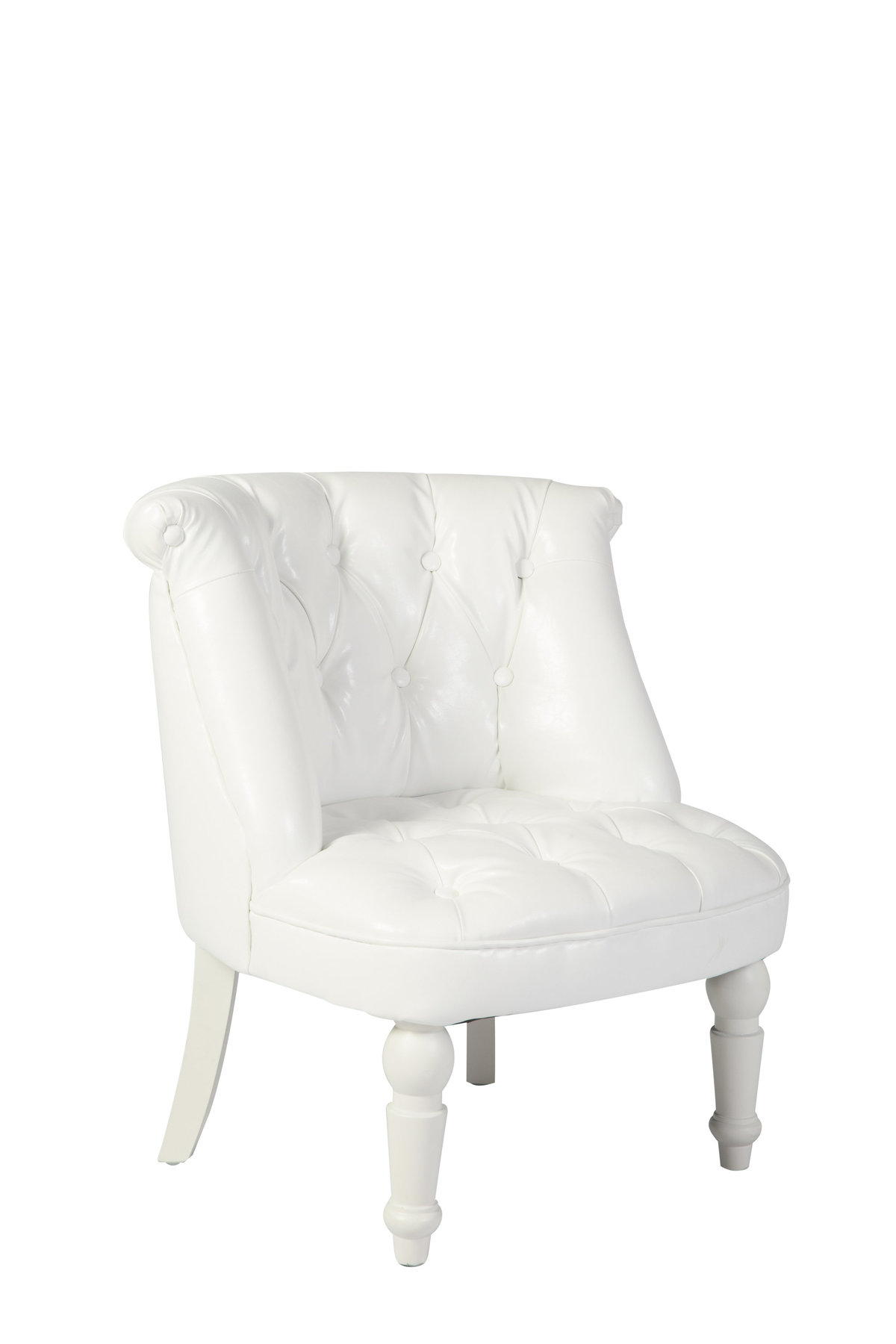 Siena White Leather Club Chair