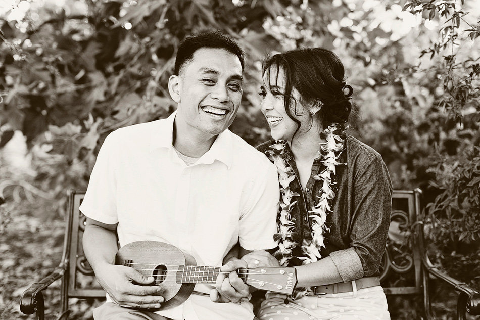 hawaiian inspired engagement photos session