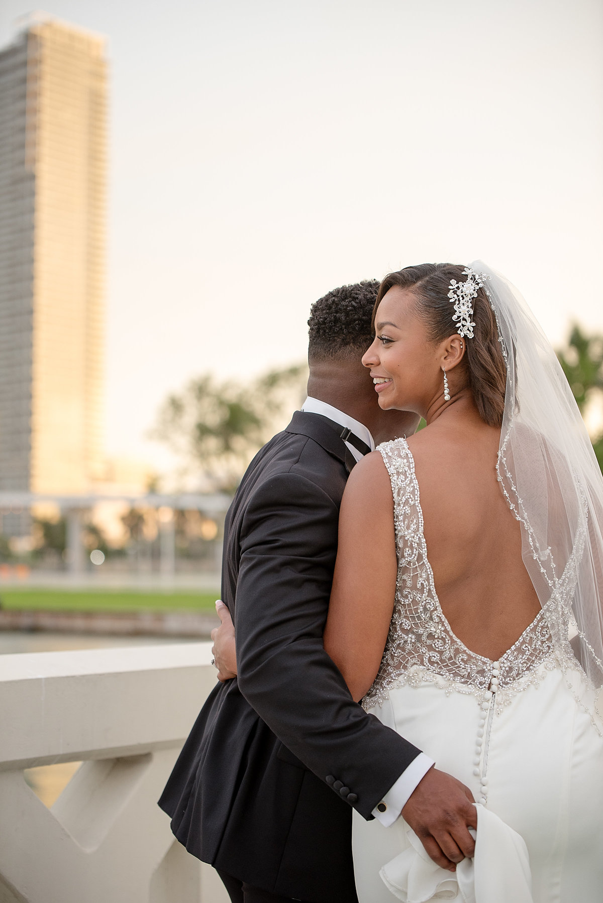 NFL Miami Dolphins Brandon Radcliff ShaKyra Radcliff Briza on the Bay Wedding Andrea Arostegui Photography-220