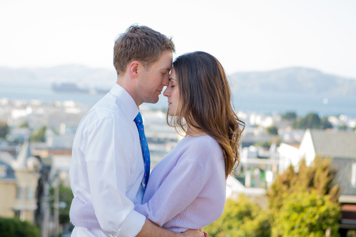 San Francisco Sweetheart Engagement Photoshoot in the City