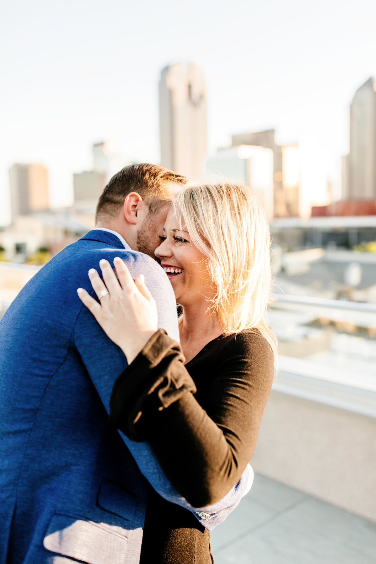 Eric & Megan - Downtown Dallas Rooftop Proposal & Engagement Session-73
