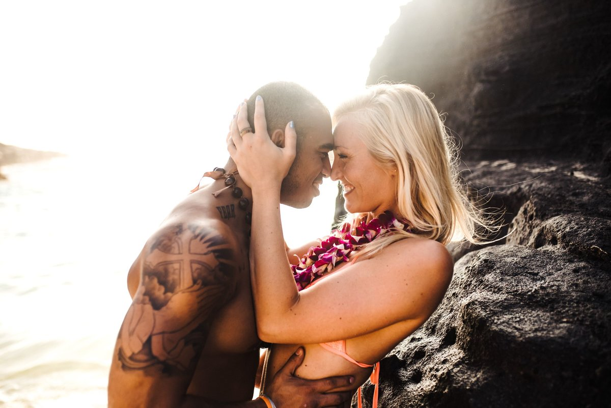 Eternity Beach Honolulu Hawaii Destination Engagement Session - 74