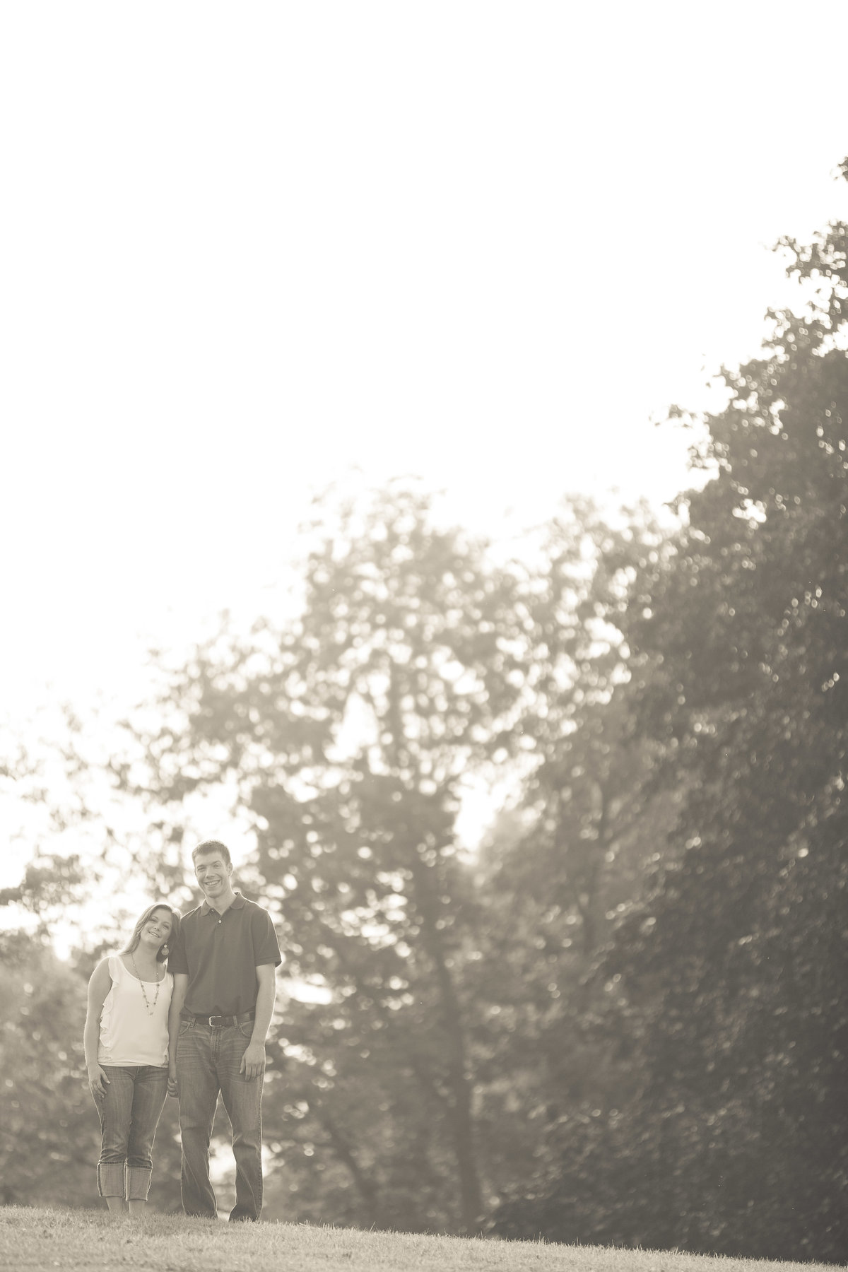 engagement portrait at park