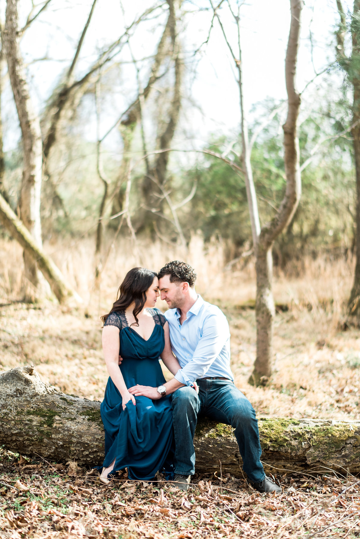 nc engagement photos in the woods photo