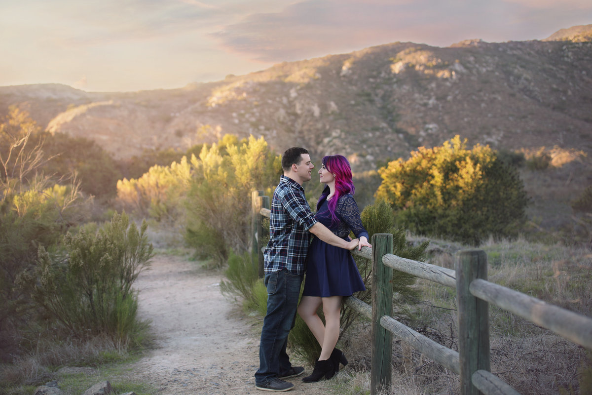 Wedding engagement at Mission Trails park, San Diego
