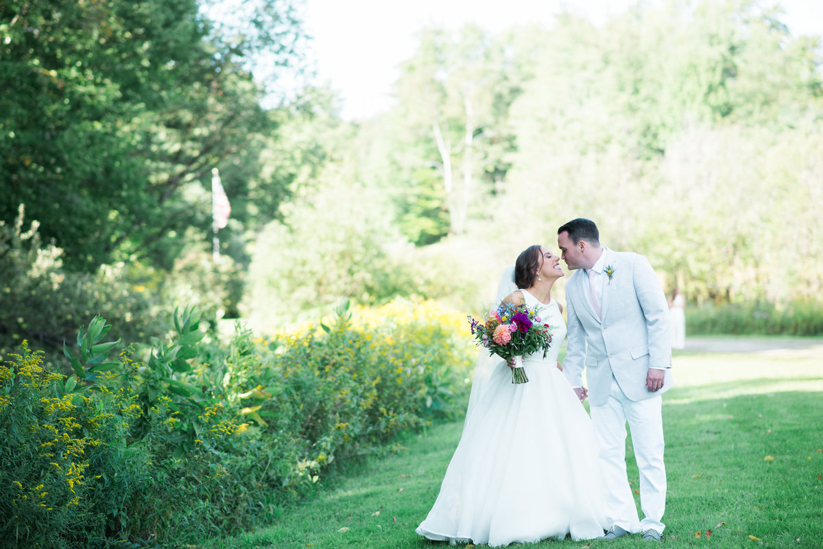 bride and groom at Alerin Barn