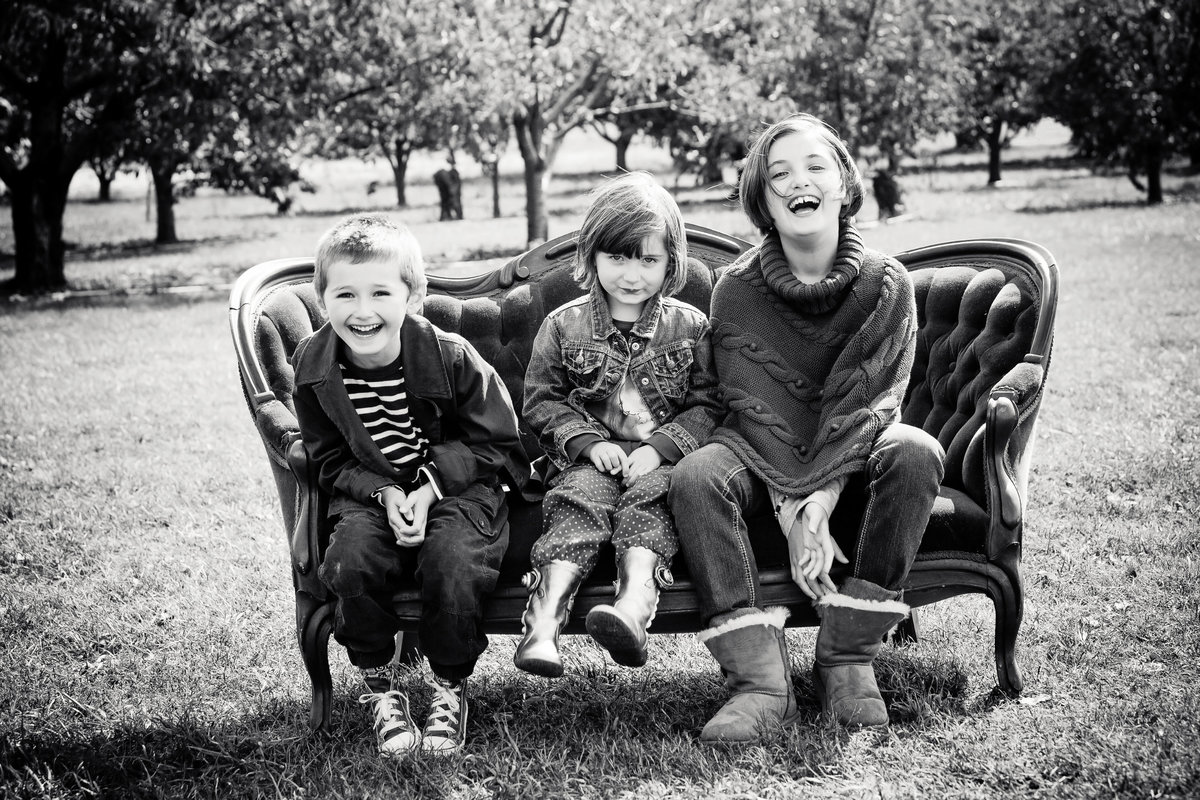 fun black and white outdoor family kids photos by Hudson Valley NY children's photographer